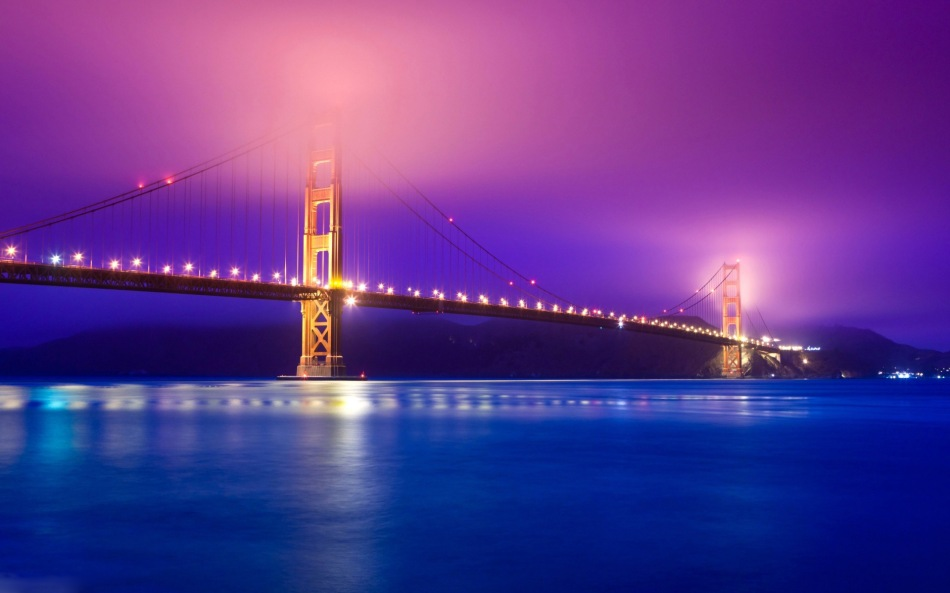 Golden Gate Bridge Fog Penaroza San Francisco California