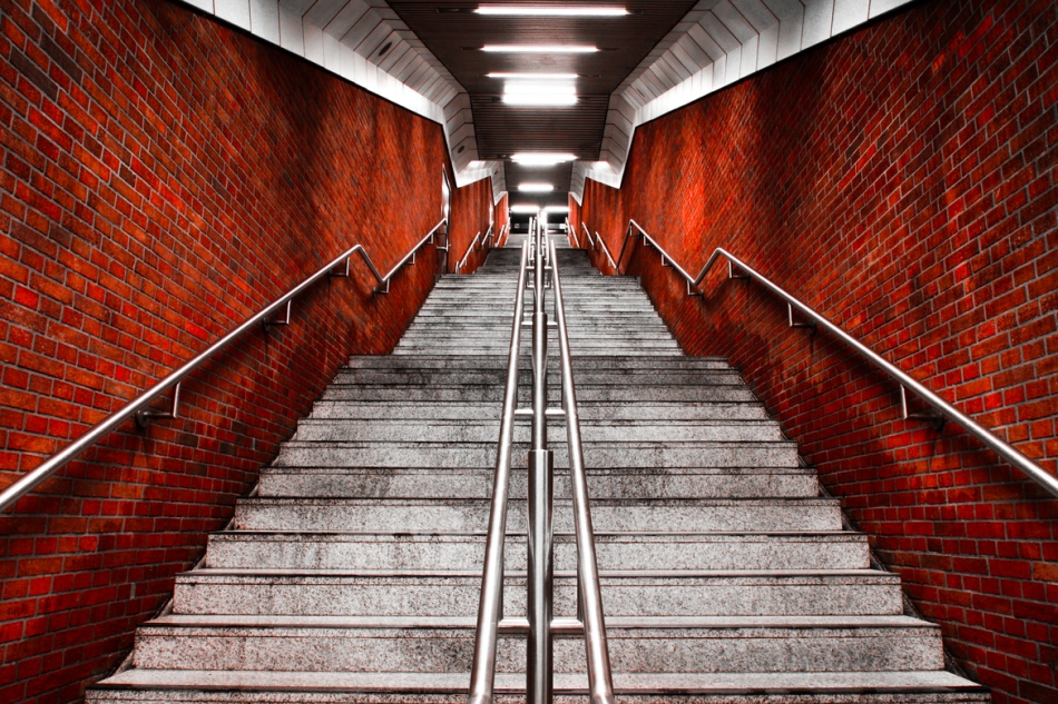 subway staircase Munich Germany