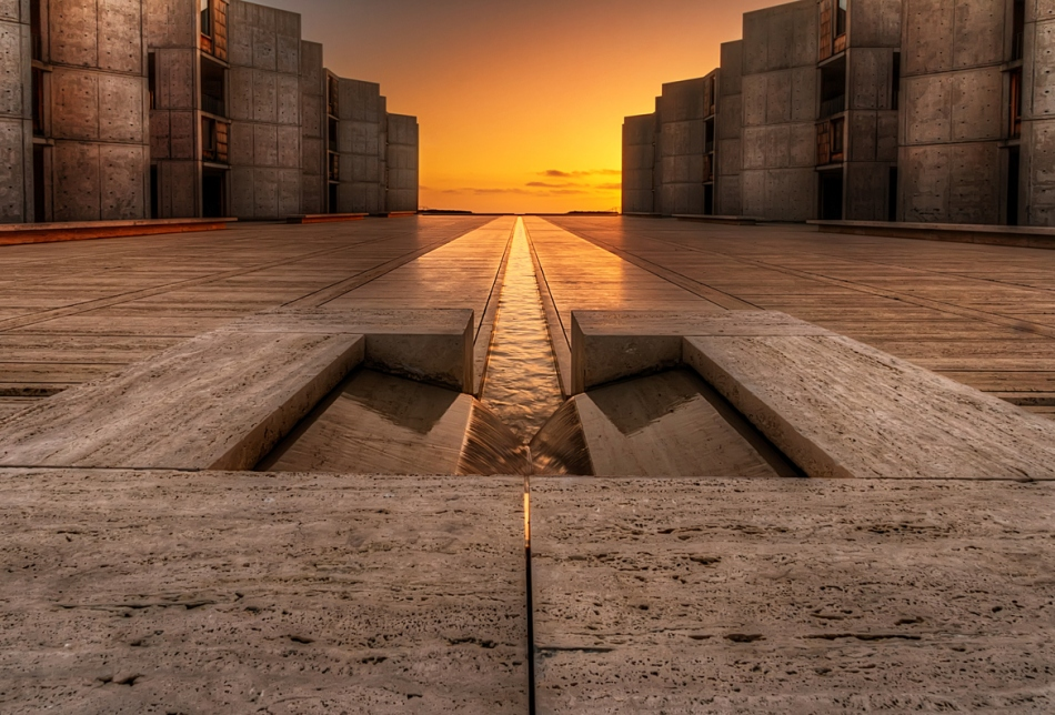 San Diego sunset Salk Institute