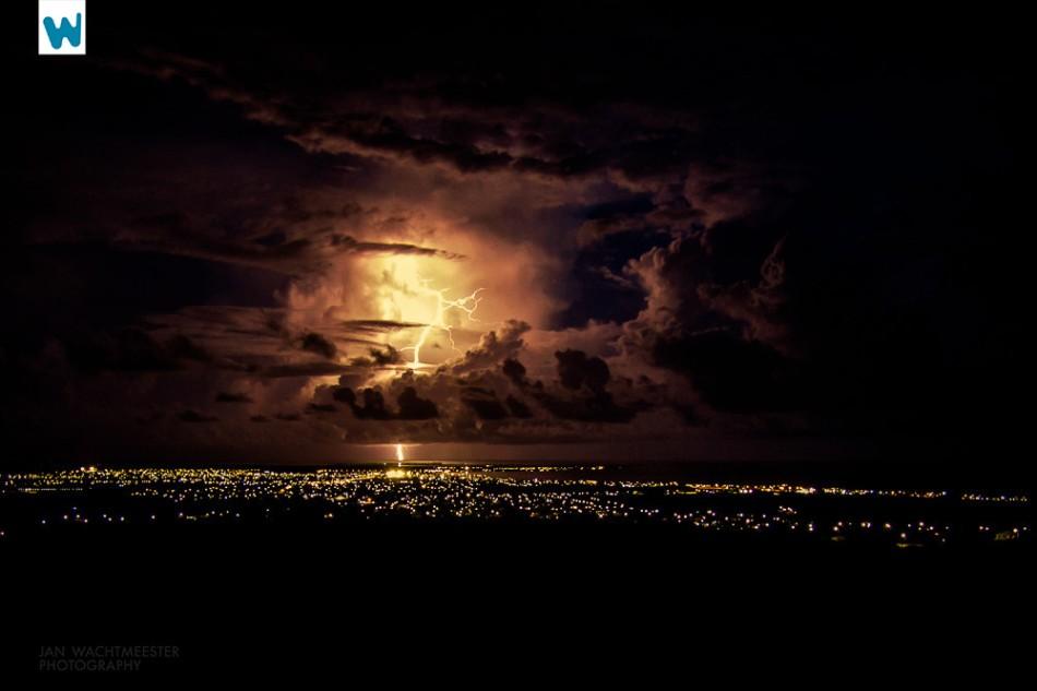 lightning storm sky night