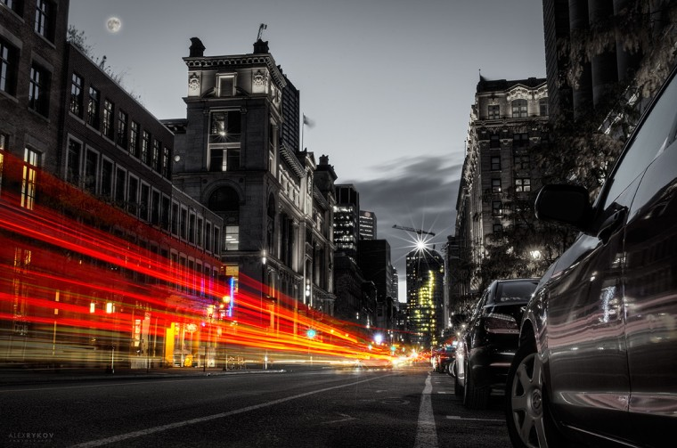 Montreal at night - Alex Rykov - long exposure