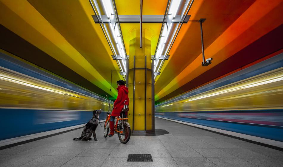 Munich Germany underground colors Joe@Plasmatico